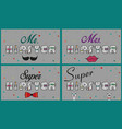 cards with ifunny inscriptions about hipsters vector image vector image