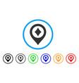 casino map pointer icon vector image vector image