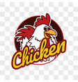chicken rooster on transparent background vector image