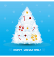 Christmas tree card3 vector image vector image