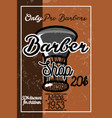 color vintage barber shop banner vector image vector image