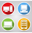 Computers flat icons vector image