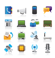 connection and technology icons vector image vector image