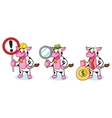 Cow and Bell with sign vector image