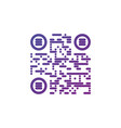 creative qr code sign round icon scan code symbol vector image vector image