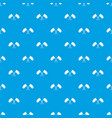 crossed flags pattern seamless blue vector image vector image