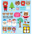 cute Christmas doodle vector image vector image
