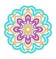 embroidered mandala vector image