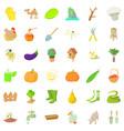 farming icons set cartoon style vector image vector image