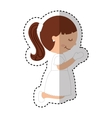 first communion girl character vector image vector image