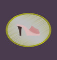 flat shading style icon footwear flip flops heels vector image