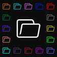 Folder icon sign Lots of colorful symbols for your vector image vector image