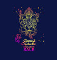 ganesh chaturthi sale banner hand drawn vector image vector image