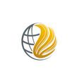 globe wing world logo vector image vector image