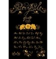 Gold Fairytale hand drawn calligraphic vector image vector image