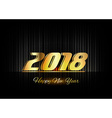 Gold New Year 2018 Luxury Symbol vector image