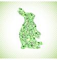 Green Rabbit vector image vector image