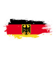 grunge brush stroke with germany national flag vector image