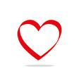 heart icon love symbol valentine s day vector image vector image
