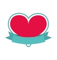 heart red isolated icon design vector image