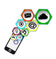 icons social mobil vector image vector image