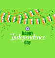 indian independence day 1 vector image vector image