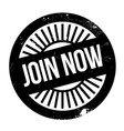 join now rubber stamp vector image vector image