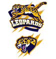 Jumping leopard mascot vector image