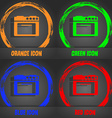 kitchen stove icon Fashionable modern style In the vector image vector image
