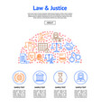 law and lawyer card vector image vector image