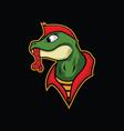lizard punk design vector image vector image