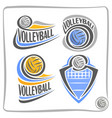logo volleyball ball vector image