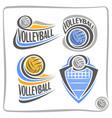logo volleyball ball vector image vector image