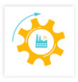 manufacturing factory an gear industry 40 concept vector image