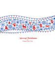 merry xmas and happy new year concept banner vector image