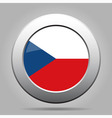 metal button with flag - Czech Republic vector image