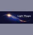 motion light effect shining wave glow design vector image vector image