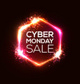 neon sign of cyber monday text for decoration vector image
