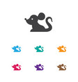 of zoology symbol on mouse vector image vector image