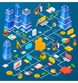 Office city infrastructure planning infographic vector image vector image