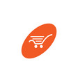 oval shopping cart white retail logo design vector image