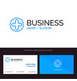 plus sign hospital medical blue business logo and vector image vector image