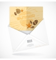 Postal Envelopes With Greeting Card vector image vector image