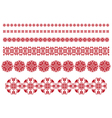 red flowers ornament vector image vector image