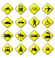 road sign glossy setof glossy road sign vector image