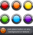 Round glossy buttons vector image vector image