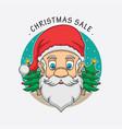 santa claus christmas sale logo vector image