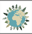save planet eco planet vector image