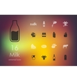 Set of milk icons vector image vector image