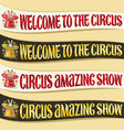 set of ribbons for circus vector image